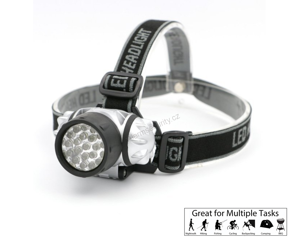 Čelovka Headlamp 21 LED, 3x AAA