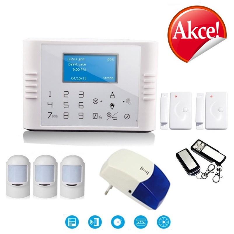 Bezdrátový LCD GSM alarm systém PREMIUM I Model: GS-G180E / Premium 1