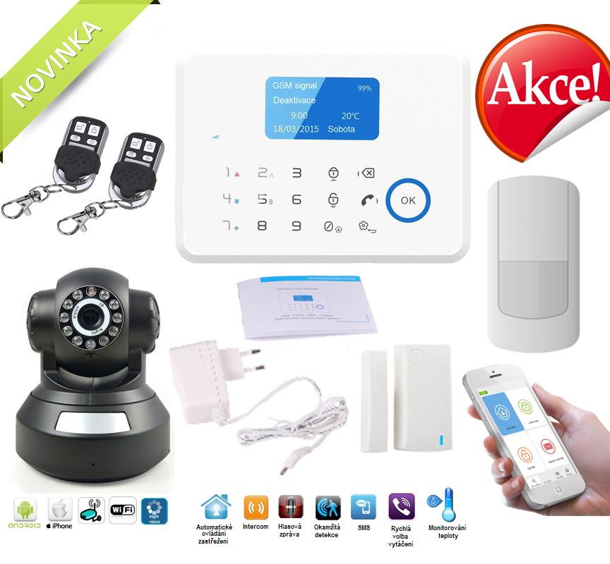 Bezdrátový APP/GSM/LCD alarm system s IP kamerou Model: AS-G190E / verze bílá