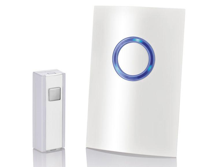 Designový bezdrátový dveřní zvonek, bílý Model: HG00783A
