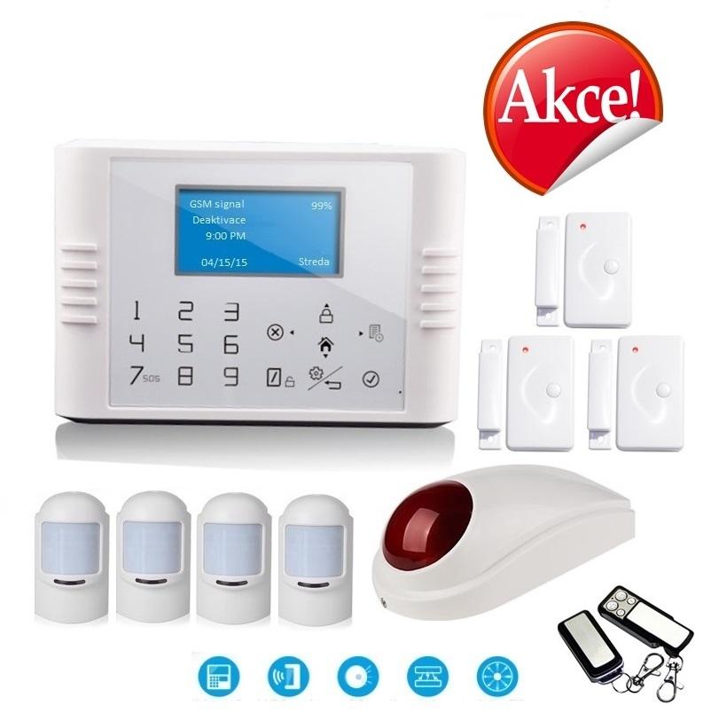 Bezdrátový LCD GSM alarm systém EXCLUSIVE Model: GS-G180E/Set Exclusive