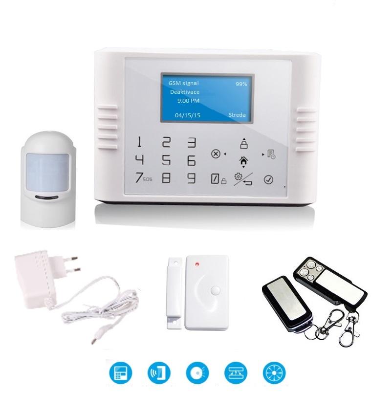 Bezdrátový LCD GSM alarm systém BASIC Model: GS-G180E/Basic