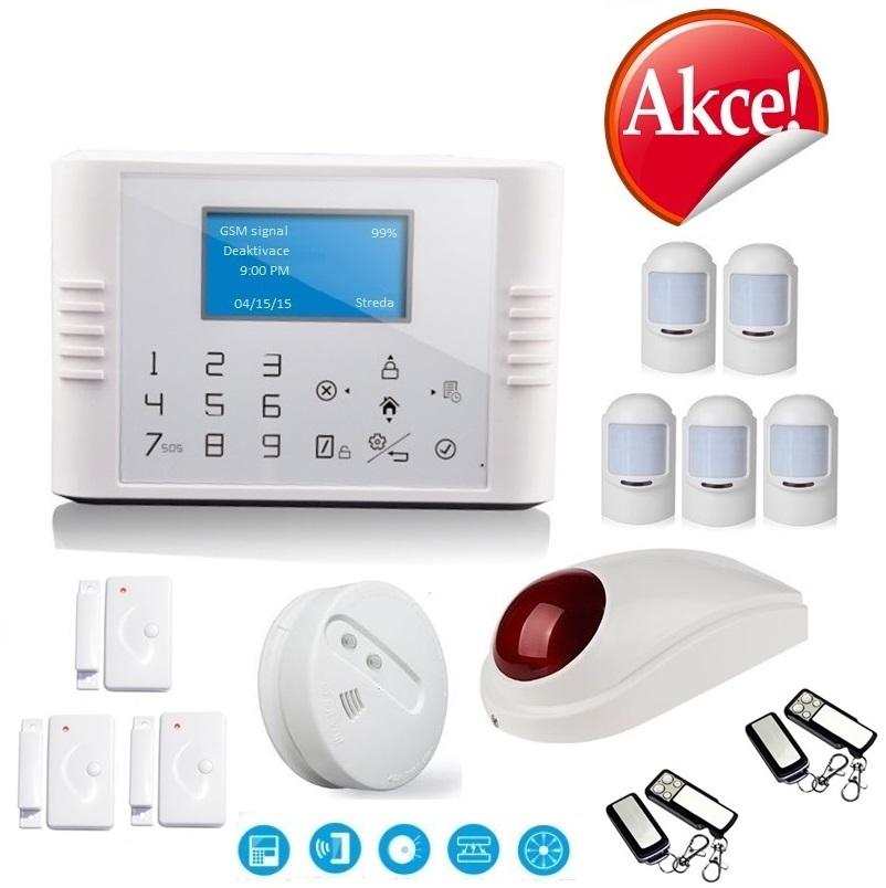 Bezdrátový LCD GSM alarm systém PROFI Model: GS-G180E/ Profi