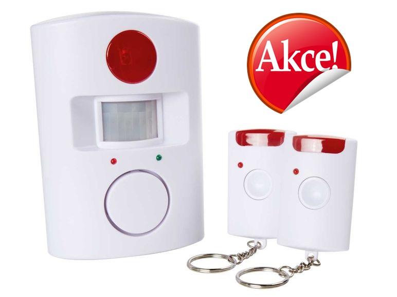 Autonomní detektor pohybu s alarmem a dálkovým infračerveným ovládáním Model: BA 105 A1