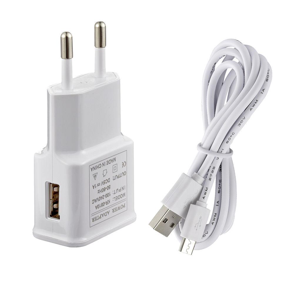 Napájecí adaptér 230V AC / 5V DC 1000 mA + Micro USB kabel, A-B, USB 2.0, 1,2m Model: KR-0510A