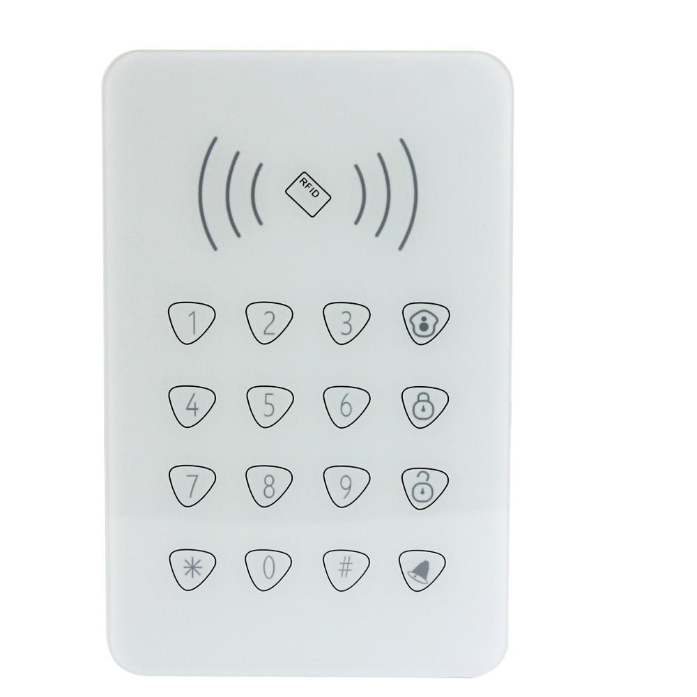 Bezdrátová podsvícená klávesnice s RFID čtečkou pro GSM alarm Model: AS-K07