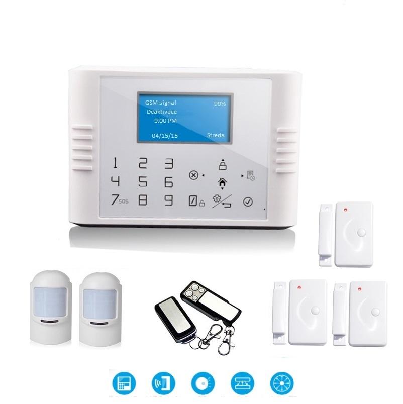Bezdrátový LCD GSM alarm systém STANDARD Model: GS-G180E / Standard